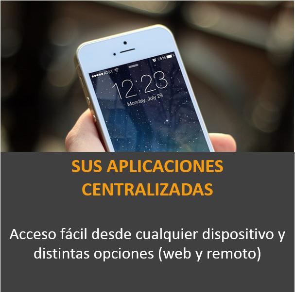 Aplicaciones centralizadas