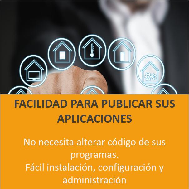 Facilidad para publicar aplicaciones